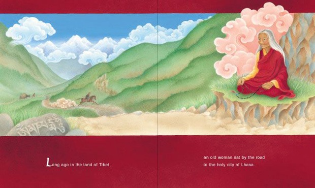 Panel from All the Way to Lhasa by Barbara Helen Berger