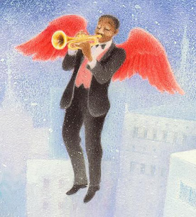 Mayor angel with trumpet, from Angels on a Pin